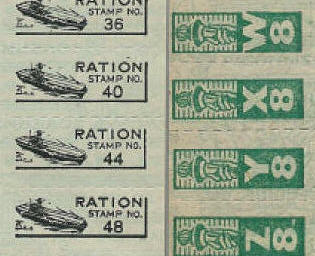 US Homefront WW2 Unit - The Ration Stamp Game, Handout #6 Illustration